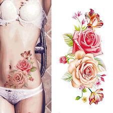 3D Roses Flower Removable Temporary Tattoo Body Art Tattoos Sticker Waterproof