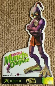 Original 2001 Oddworld Munch's Oddysee Foamboard Abe Wall Standee - Xbox
