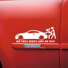 No Free Rides Gas Or Ass Funny Car Window Sticker Waterproof Truck Bumper Decal