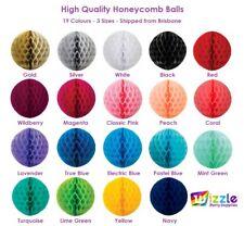 Honeycomb Balls 15cm 25cm 35cm 19 Colours High Quality Tissue Paper Decorations