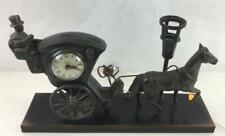 Vtg. United Hansom Cab Horse & Carriage Clock Lot 2128
