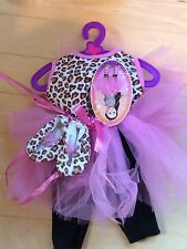 "NEW 18"" Doll Clothes Fits American Girl Leopard Print Shirt Tutu Pants Shoes"