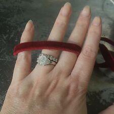 Cinta de terciopelo estirable 9mm rojo oscuro Made in Italy Elástico