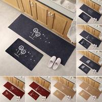 NON-SLIP KITCHEN BATHROOM FLOOR MAT RUG HOME DOOR ENTRANCE HALLWAY CARPET SMART