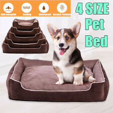 Dog Beds Deluxe Soft Washable Cat Pet Warm Basket Nesting Bed Cushion S M L  D3