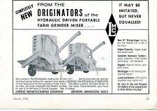 1968 Dealer Print Ad of Lorenz Manufacturing Co LMC Hydraulic Grinder Mixer