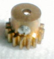 "20 Tooth Brass Pinion Gear & Set Screw 48 Pitch 1/8"" Armature Shaft Slot Car NOS"