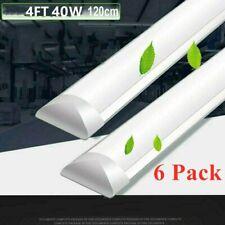 6Pcs 40W Linear LED Wraparound Lights Flushmount Home Shop Lights for Garage 4FT