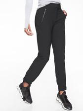 ATHLETA Wander Straight Pant Black Work Pants or Hiking 8 TALL