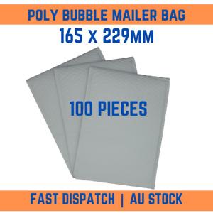 100 Pcs Plain White Poly Bubble Padded Bag Mailer Postage Envelope 165mm x 229mm