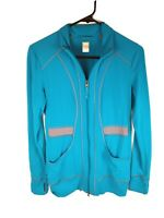 Lucy Tech Full Zip Jacket Athleisure Workout Women's Size Small S Turquoise Blue