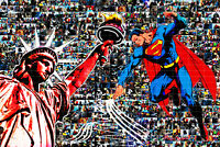 MARIA MURGIA - Serie supereroi: Superman - Fotomosaico digitale cm 50x75