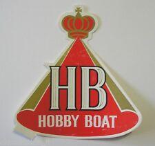 VECCHIO ADESIVO AUTO MOTO /Old Sticker HB INTERNATIONAL HOBBY BOAT (cm 11x12) b