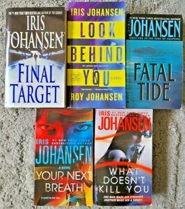 IRIS JOHANSEN PAPERBACK 5 BOOK LOT THRILLER SUSPENSE CRIME MMPB FREE SHIPPING!