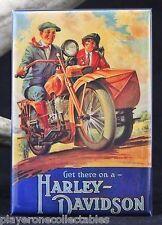 "Get There on a Harley-Davidson 2"" x 3"" Fridge / Locker Magnet."