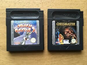 Bugs Bunny Crazy Castle 3 + Chessmaster Nintendo Gameboy Color Colour Bundle