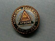 """1950's AMERICAN FEDERATION STATE COUNTY MUNICIPAL EMPLOYEES AFSCME UNION PIN 1"""""""