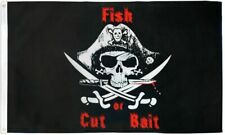 """New listing """"Fish Or Cut Bait Pirate"""" 3x5 ft flag polyester"""
