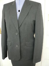 LADIES JACKET AND SKIRT SUIT , grey , size 8