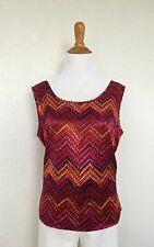 E.K.Design Top Blouse Sleeveless Preowned Used