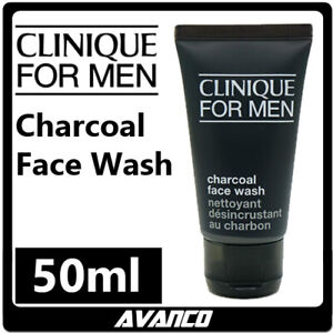 CLINIQUE For Men Face Charcoal Wash Gel Cleanser Travel Anti Age Skin 50ml NEW