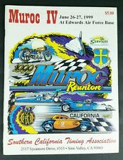 SCTA Southern California Timing Association Muroc IV 1999 program racing