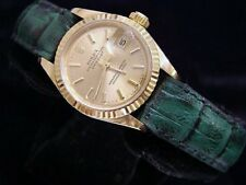 Ladies Rolex Solid 18K Yellow Gold Datejust President w/Champagne Dial 69178