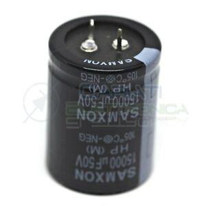 15000uF 50V Condensatore elettrolitico 35x45mm SAMXON SNAP IN 105°C