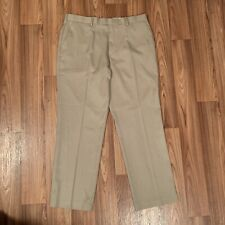 Perry Ellis Portfolio Khaki Pants 38x32 non iron stretch