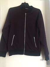 Mens Large Burgundy Zip Up Jacket