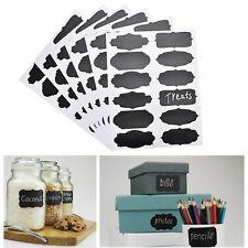 60 pcs Chalkboard Blackboard Chalk Board Stickers Craft Kitchen Candy Jar Labels