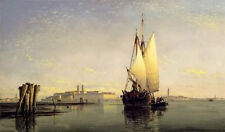 Dream-art oil painting henry hillier parker - on the lagoon of venice sail boats