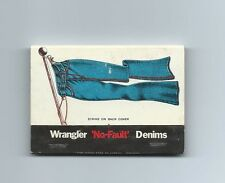 Matchbook Cover, Wrangler 'No-Fault' Denims, Unused.