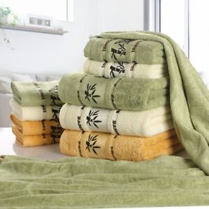 Bamboo Fiber Towels Home Bath Towels for Thick Absorbent Luxury Bathroom Towels