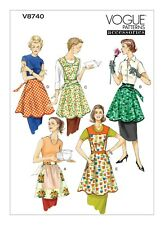 V8740 Sewing Pattern Full and Half Aprons Sizes 8-22 Vintage Look Vogue 8740 OOP