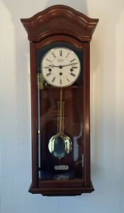 Greenwich Clock Co Walnut Vienna Wall Franz Hermle Westminster Chiming 8 Day