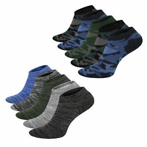 Mens Trainer Liner Socks 5 Pack Camo Space Dye Socks Cotton Rich Size 6-11
