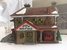 Department 56 Bluebird Seed And Bulb 5642-1 New England Village Series Vtg 1992
