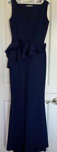Chiara Boni La Petite Robe Evan Ruffled Mermaid Gown Made in Italy Blue Size 10
