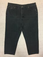 Vintage Chic Jeans Size 22W X26 Women's Faded Black Straight Leg Made In USA B53
