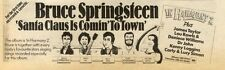 26/12/81PN15 BRUCE SPRINGSTEEN : SANTA CLAUS IS COMIN TO TOWN ADVERT 3X12