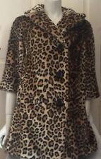 Original Topshop Premium en fourrure synthétique léopard imprimé Léopard Manteau UK 8 E 36 US 4 RARE