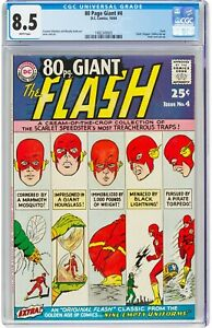 80 Giant Page #4 (Oct 1964 DC Comics) CGC 8.5 VF+ | Flash Rogers' Gallery pin-up