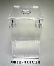 ARBOREAL ACRYLIC 3 GALLON CAGE WITH HINGED TOP- TARANTULA, REPTILES,  TERRARIUM