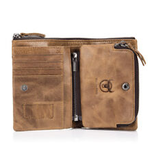 High Quality Men's Genuine Leather Cowhide Wallet Bifold Hi-Q Purse Card Holder