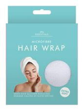QUICK DRY MAGIC HAIR TURBAN TOWEL MICROFIBRE HAIR WRAP BATH TOWEL CAP HAT WHITE