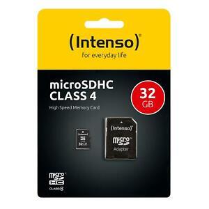 Intenso Micro SD Karte Speicherkarte 32GB Class 4 SDHC Memory microSD TF Card C4