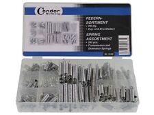 Federn-Sortiment Zugfedern u. Druckfedern 20 Größen 200 Stück im Klarsichtkasten