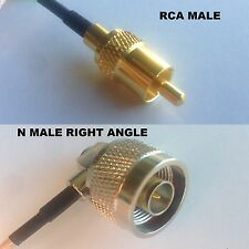 RG316 RCA MALE to N MALE ANGLE Coaxial RF Cable USA-US
