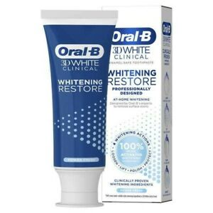 Oral-B 3D White Clinical Whitening Restore Diamond Clean Toothpaste 70ml.